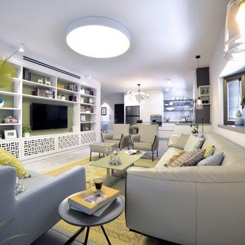 עיצוב דירה בצבעי פסטל בפתח תקווה