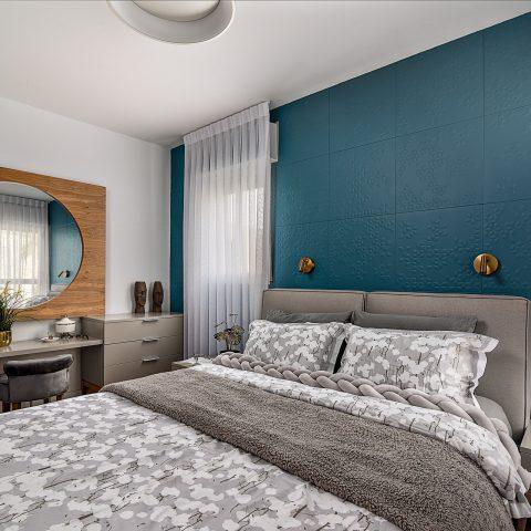 עיצוב דירה בשילוב צבע טורקיז במודיעין