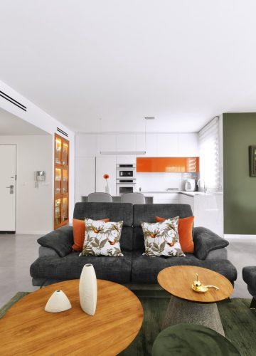 עיצוב דירה מודרנית וחמה בנס ציונה