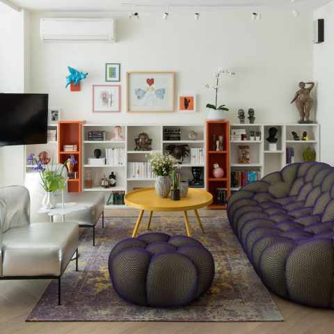 עיצוב בית צבעוני במיוחד בסגנון אקלקטי